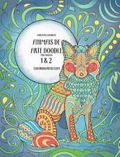 Animais de Arte Doodle: Livro para Colorir de Animais de Arte Doodle para...