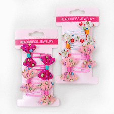2 x pack of 4 girls bow hairclips set, total 8 hair clips FREE POST Sydney