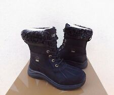 UGG BLACK ADIRONDACK III LEOPARD WATERPROOF SHEEPSKIN BOOTS, US 7/ EUR 38 ~NEW