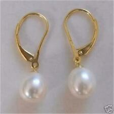 ❤️Earrings 9ct Gold Over Pearl Pear Drop ❤️ Retro Bride UK FREE Postage Silver❤️