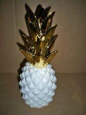 Deko-Ananas Gold-weiß   Polyresin Impressionen Living