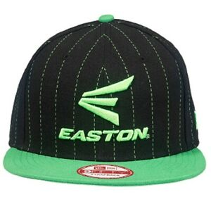 Easton M10 Pinstripe 9FIFTY Black/Torq Green Hat Adult One Size Fits All A167904