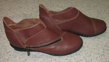 Medici Wms Brown Leather Ankle Boots 38 US 8