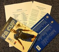 Chelsea v Liverpool FA CUP 5TH ROUND Programme+teamsheet+Club News 3/3/20!