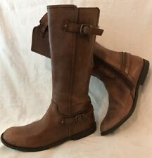 Start-Rite Brown Mid Calf Leather Lovely Boots Size 4F (334v)
