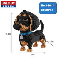Bausteine Dackel-Hund Mini Modell Spielzeug Geschenk Dekoration Figur Toys Gifts