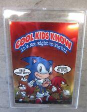 Sonic The Hedgehog Promo Chrome Card Super Rare 1997 Sega