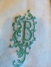 2  Monogrammed  Cotton Tea Towels with Your Customized Ltr & Color