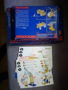lot de 3 Boîtes Meccano N° 2-3-4 annees 80 et lot de notices