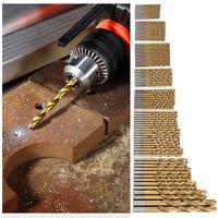 50Pcs Titanium Coated HSS High Speed Steel Drill Bit Set Tool 1/1.5/2/2.5/3mm XG