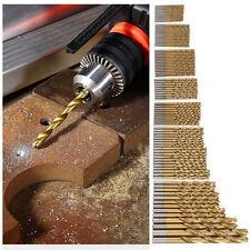 50Pcs Titanium Coated HSS High Speed Steel Drill Bit Set Tool 1/1.5/2/2.5/3mm SP