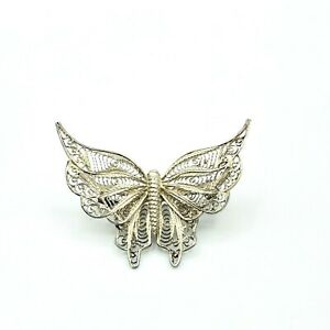 Sterling Silver Butterfly Pin Brooch Tested 925