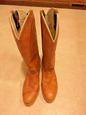 USA Made Marble DINGO 7607 Cowboy 14 in.Tall Western Boots Ladies Size 8N  VGC !
