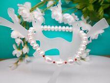 Juwelo Armband Süßwasserzucht - Perlen Granat Armband Zertifikat NEU