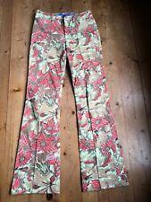 Escada Jeans Schlaghose mit Blumenprint khaki grün 36 38 Zugabe Marc Cain Shirt