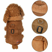 Pet Dog Cat Winter Warm Clothes Vest Jacket Coat Puppy Costumes Sweater Apparel
