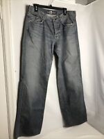 """7 For All Mankind Men's """"A"""" Pkt Relaxed Distressed Button Fly Jeans 36x32"""
