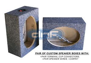 """1 PAIR CUSTOM 6"""" x 9"""" SQUARE SPEAKER BOX+CARPET + TERMINAL CUPS + SPEAKER WIRE)"""