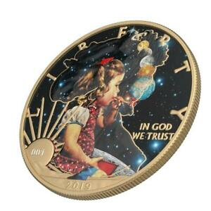 USA 2019 1$ Sci-Fi - Bubble Planets 1 Oz Silver Coin with Varnish