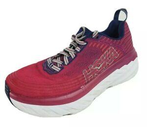 Hoka One One Bondi 6 Running Shoes Women's Size 8.5 Wide Arctic Dusk Grape