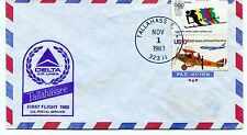 FFC 1983 First Flight Delta Air Lines Tallahassee US Postal Service
