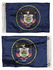 12x18 State of Utah 2 Faced 2-ply Nylon Wind Resistant Flag 12x18 Inch