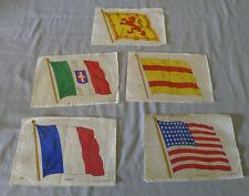 Lot of 5 B.D.V. 1910-25  Large Flags Cigarette Tobacco Silks