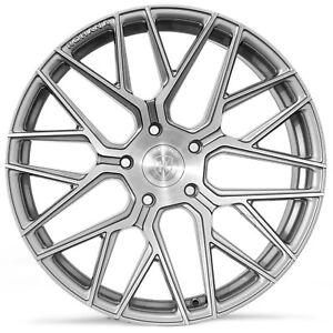 "20"" Rohana RFX10 Brushed Titanium Concave Wheels for Audi"