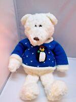 "Gund ICE CAP White Teddy Bear Plush 18"" 1078 Stuffed Animal toy"