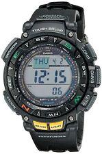 USED Casio Men's PAG240-1C PATHFINDER Solar Power Triple Sensor Sport Watch Alti