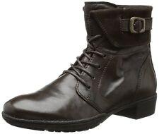 Camel Active Womens Deanne Mocca Black Lace Up Leathe Boots UK 7.5 EU 40 (10543)