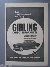 R&L Ex-Mag Advert: Girling Disc Brakes Bristol 409/The Sunday Times Mini Car