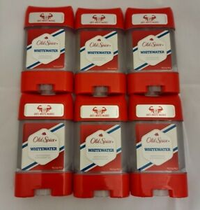 6 X Old Spice Anti-perspirant Deodorant gel stick  for Men WHITEWATER 70ml