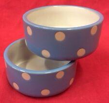 """Hamster Bowl x 2 POLKA DOT 3"""" Round Dish Water Food Seed OR TREAT BOWL Rabbits"""
