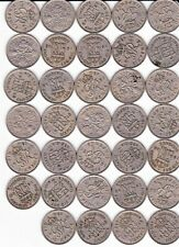 More details for 34 x 1900s sixpence coins 1948 1949 1950 1951 1962 1967