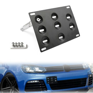 Front Bumper Tow Hook License Plate Mounting Holder Bracket For VW Golf 6 7