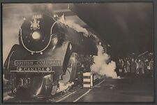 Royal Hudson Steam Engine Mounted Picture Wall Hanging British Columbia Railway