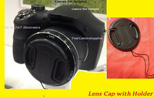 FRONT SNAP-ON LENS CAP  DIRECTLY TO CAMERA NIKON COOLPIX L100 +HOLDER