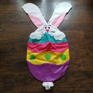 Vtg Vintage Big Easter Egg Bunny Rabbit Windsock 3D by WindSport Flag Banner