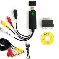 USB Audio Video Capture Grabber Card VHS To DVD Adapter Converter Windows 8 10
