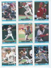 PHILADELPHIA PHILLIES x 33 Full Set of 1992 Donruss MLB Baseball Trading Cards