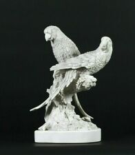 More details for pair of marble parrots, classical sculpture, gift, art, ornament.
