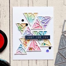 Triangle Background Set Metal Cutting Dies Stencil Scrapbooking Embossing Decor