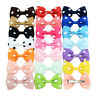 20Pcs Baby Girls Dot Hair Bows Band Boutique Alligator Clip Grosgrain Ribbon FO