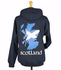 Unisex Vintage Blue Alba Scotland Flag Zip Front Sweatshirt Jacket, 3XL (New)