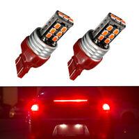 2X Red Dual Filament Bulb Car Brake Lamp Turn Signal Tail Light T20 7443 15 LED