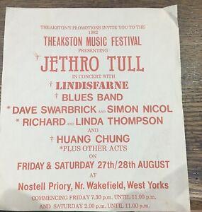 JETHRO TULL - ORIGINAL 1982 Theakson music Festival Flyer