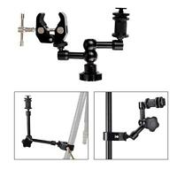 "Articulating Magic Arm 7"" Super Crab Clamp Plier Clip DSLR Camera LCD Monitor"