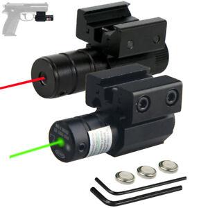 Tactical Green/Red Laser Beam Dot Sight Scope For Gun Rail Pistol Weaver 20mm US
