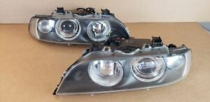 2001-2003 BMW E39 525i 530i 540i M5 Euro Headlights Xenon HID New Adjusters OEM